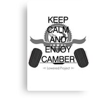 keep calm enjoy camber Canvas Print