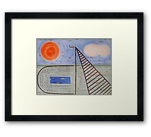 HIGH DIVE Framed Print