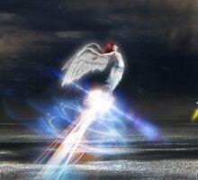 Rising angels Sticker