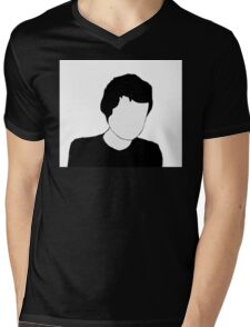 Faceless Mens V-Neck T-Shirt