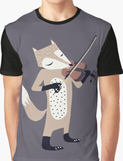 FOXY VIOLINIST Graphic T-Shirt