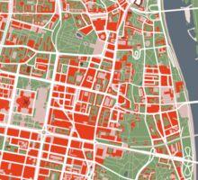 Warsaw map classic Sticker