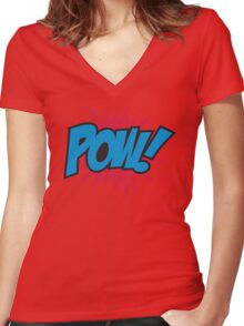 Pow! Women's Fitted V-Neck T-Shirt