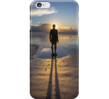 Winter Sunset at Crosby Beach iPhone Case/Skin