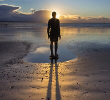 Winter Sunset at Crosby Beach by Paul Madden