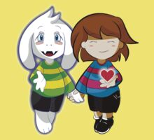 Undertale Asriel and Frisk Together  Kids Tee