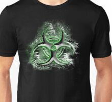 Biohazard sign, glowing toxic waste fallout symbol Unisex T-Shirt