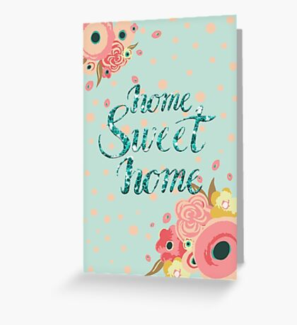 Home Sweet Home Vertical Stickers and Cards Greeting Card