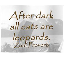After Dark - Zuni Proverb Poster
