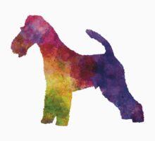 Fox Terrier in watercolor Kids Tee