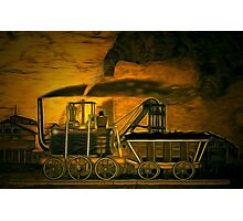 My digital painting of A Blenkinsop Locomotive at Frickley Colliery in Yorkshire Photographic Print