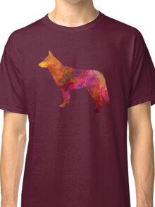 Saarloos Wolfdog in watercolor Classic T-Shirt