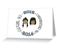 Beginning to End of Legend of Korra (Any Color!) Greeting Card