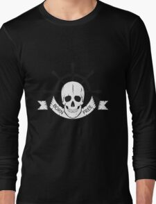 "The skull of a ""sea devil""  pirate logo  Long Sleeve T-Shirt"