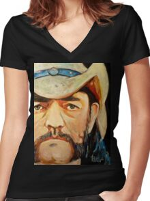 Lemmy Women's Fitted V-Neck T-Shirt