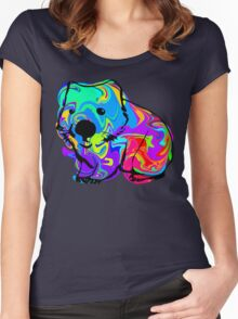 Colorful Wombat Women's Fitted Scoop T-Shirt