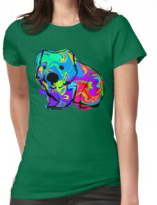 Colorful Wombat Womens Fitted T-Shirt