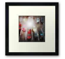 Raindrops on the window  Framed Print