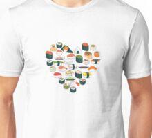 Sushi Heart Unisex T-Shirt