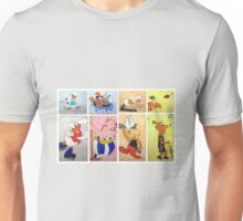 Cartoon Characters  Unisex T-Shirt