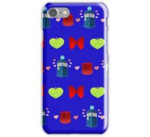 Whovian pattern iPhone Case/Skin