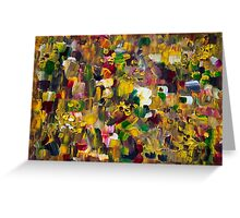 Fantasy about Gustav Klimt Greeting Card