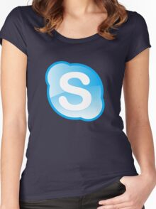 skype Women's Fitted Scoop T-Shirt