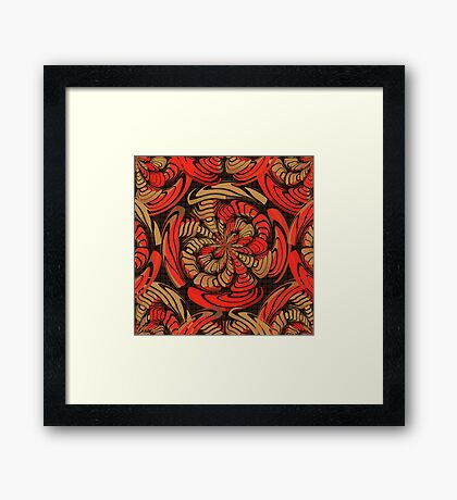 Decorative red and brown Framed Print
