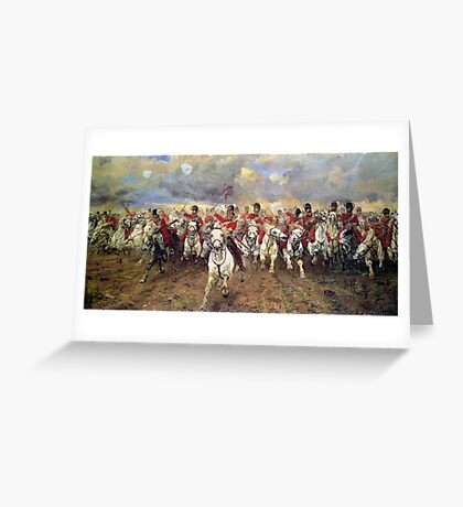 Scotland Forever! 1881, Battle of Waterloo, Lady Butler, Charge of the Royal Scots Greys Greeting Card
