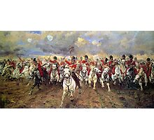 Scotland Forever! 1881, Battle of Waterloo, Lady Butler, Charge of the Royal Scots Greys Photographic Print