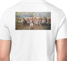 Scotland Forever! 1881, Battle of Waterloo, Lady Butler, Charge of the Royal Scots Greys Unisex T-Shirt