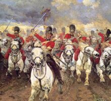 Scotland Forever! 1881, Battle of Waterloo, Lady Butler, Charge of the Royal Scots Greys Sticker