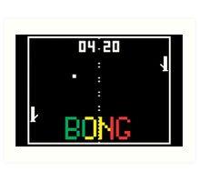 "ATARI Pong ""BONG"" game Art Print"