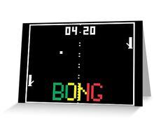 "ATARI Pong ""BONG"" game Greeting Card"