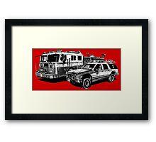 Fire Trucks Framed Print