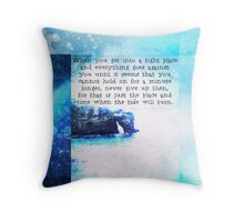 Uplifting Faith Hope Quote sea Throw Pillow
