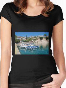 Votsi village, Alonissos Women's Fitted Scoop T-Shirt