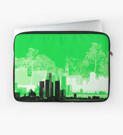 Green Town Laptop Sleeve