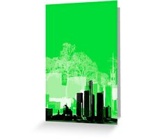 Green Town Greeting Card