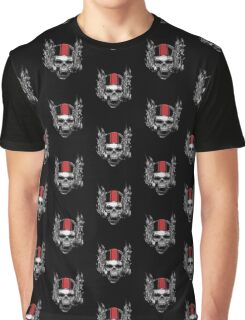 Evil Biker Skull Graphic T-Shirt