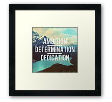 Motivation Nature scene Framed Print