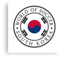 South Korea soccer world Canvas Print