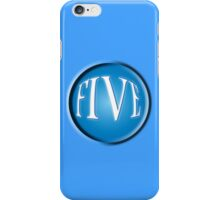 FIVE BALL, FIFTH, NUMBER 5, 5, TEAM SPORTS, Competition, BLUE iPhone Case/Skin