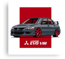 Mitsubishi Lancer Evolution VIII (gray) Canvas Print