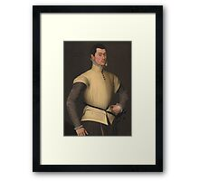 Follower of Antonis Mor Portrait of a Young Man, Framed Print
