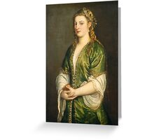 Italian, Portrait of a Lady, Greeting Card