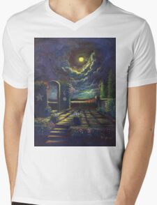The Spirit of Inspiraton: The Sun, Moon and Stars Mens V-Neck T-Shirt