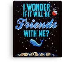 Cross stitch Space Whale  Canvas Print