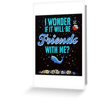 Cross stitch Space Whale  Greeting Card