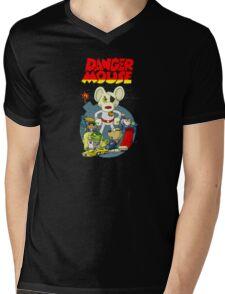 Dangermouse Mens V-Neck T-Shirt